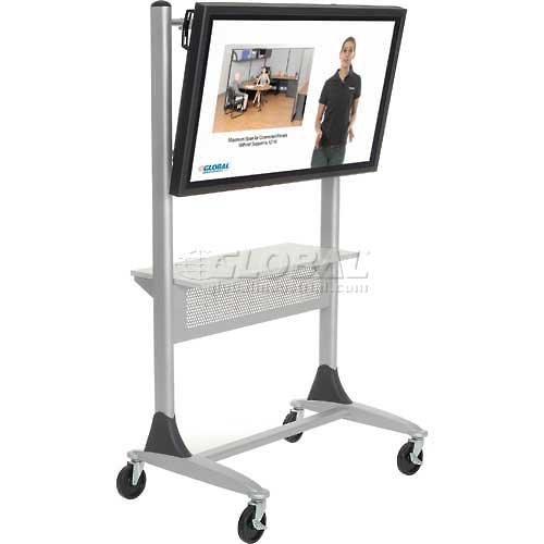 Balt174; Platinum Series Two-post Large LCD/Plasma Monitor Cart with Shelf ()