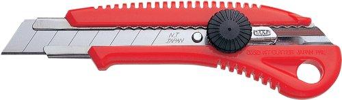NT Cutter Heavy-Duty ABS Anti-Slip Contoured Grip Screw-Lock Utility Knife (Industrial Knife Cutter)