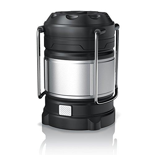 Brandson - LED Campinglampe / Laterne ausziehbar | Powerbank-Funktion (USB 2.0 High Speed) | LED Camping-Leuchte | 2 verschiedene Helligkeitsstufen (weißes Licht) | 2 Warnleuchten Lichtmodi (rot/rot blinkendes Licht) | Energieeffizienzklasse A+