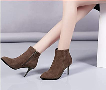 Women's Fashion Pointed Shoes Ankle Tacones Autumn Hcbyj Winter And FwpgnAqP
