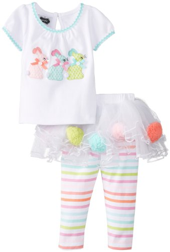 mud pie bunny skirt set - 2