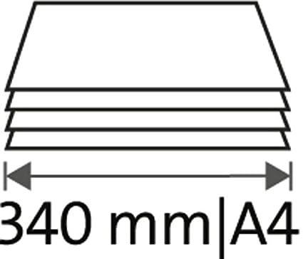 Guillotina 340 mm Longitud de corte de 2,5 mm de corte//Capacidad Azul Dahle A4