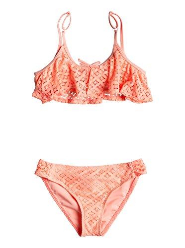 Price comparison product image Roxy Big Girls' Palm Paradise Flutter Swimsuit Set,  Peach Nectar