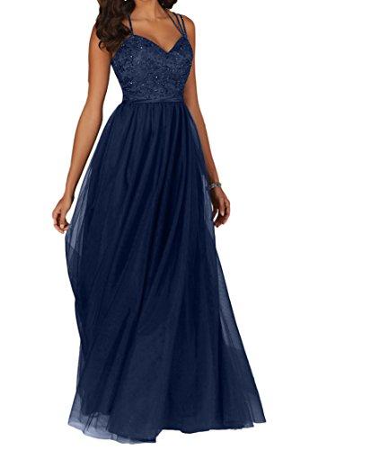 La_Marie Braut Schokobraun Attraktive Spitze Brautmutterkleider Promkleider  Partykleider Abendkleider Lang A-linie: Amazon.de: Bekleidung