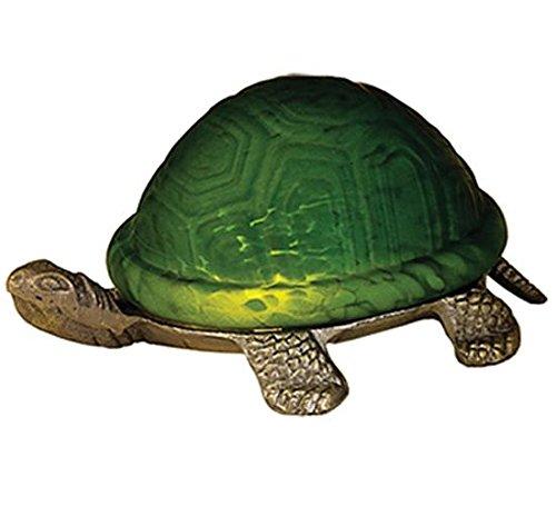"Meyda Lighting 18006 4""H Turtle Art Glass Accent Lamp"