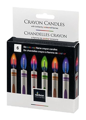Rainbow Moments Crayon Candles 6 CT