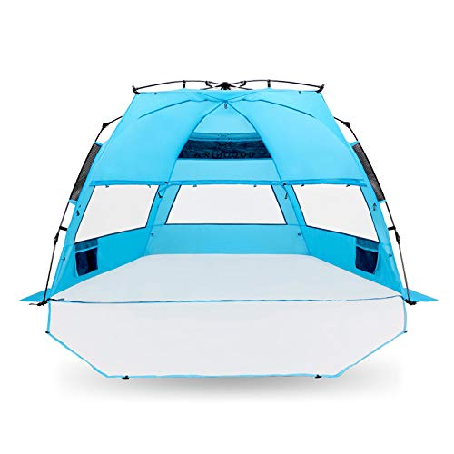 Cocorika X-Large Easy Setup Beach Tent – Automatic Pop Up 4 Person Instant Sun Shelter, Portable Sunshade