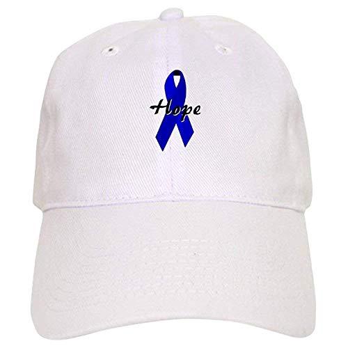 Colon Cancer Awareness Ribbon Cap - Baseball Cap with Adjustable Closure, Unique Printed Baseball ()