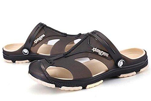 Casual a Infradito da spiaggia uomo da Scarpe da Summer Sandali 44 39 Toe Closed NSLXIE EU43 Taglia antiscivolo Pantofole azFPqw6