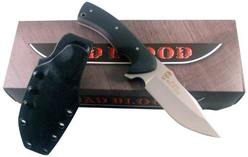 Bad Blood Partisan Nano, Black G10 Handle, Plain, Sheath, Outdoor Stuffs