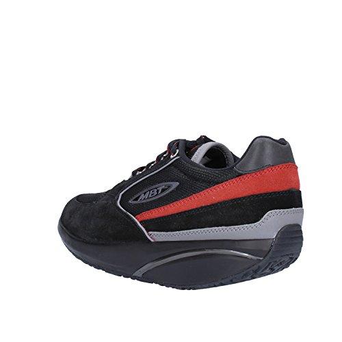 Mode EU 37 Basket Sneakers Femme Textile Noir Daim MBT Orange EOHqw7xx