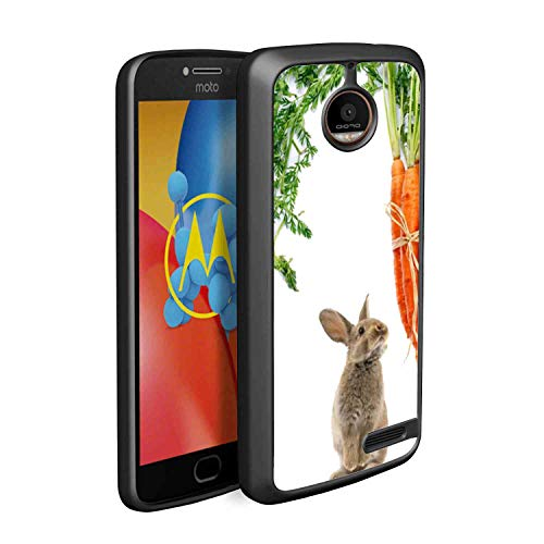 Rabbit Eating Radish Soft TPU Case Compatible for Moto E4 (2017) (5in)