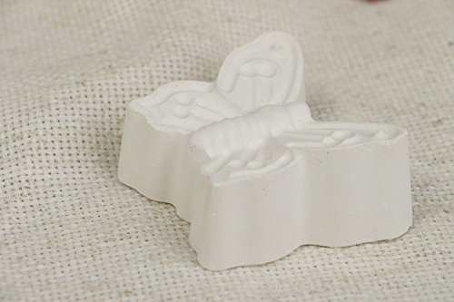 Handmade Small Unpainted Plaster Blank For Painting In The Shape Of Butterfly