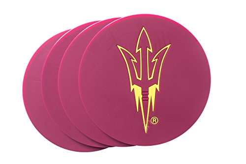 Collegiate Pulse Arizona State Sun Devils NCAA 4-Pack PVC Coaster Set
