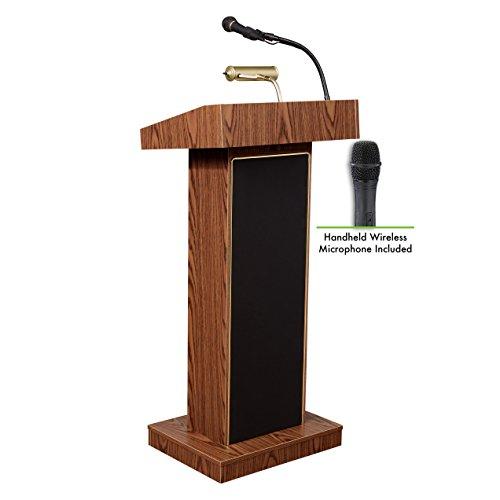 Oklahoma sonido 800x -mo/lwm-5orador atril y micrófono de mano, roble medio