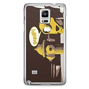 Minion Samsung Galaxy Note 4 Transparent Edge Case - Papaya 2