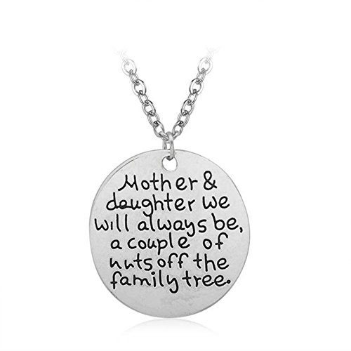 MagicW Gift for Mom Mom and Daughter We Will Always be Family Tree Pendant Necklace Love Mom Charm Necklace from Daughter
