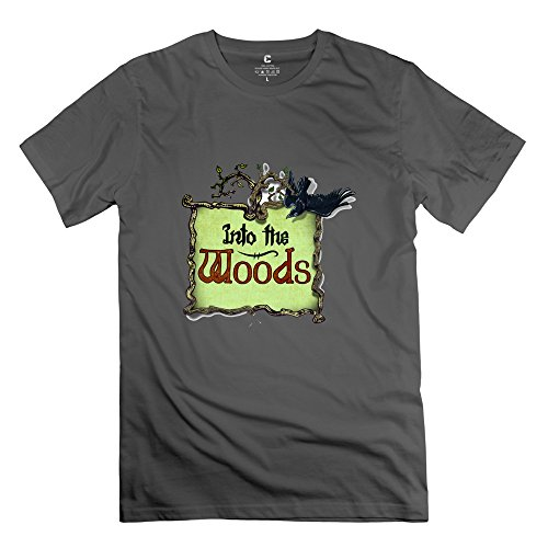 Into The Woods Logo Unique 100% Cotton DeepHeather T Shirts For Mens Size S