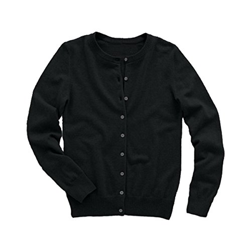 (Simply Savvy Co Exquisitely Soft 80% Cashmere Cardigan Sweater with Warm Wool Blend (Large) Black)