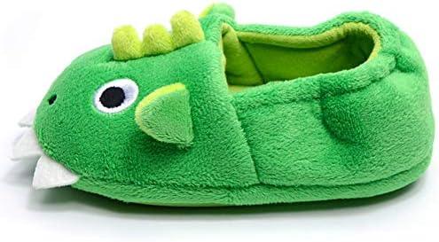 Toddler//Little Kid Toddler Baby Boys House Slipper Cute Dinosaur Cartoon Soft Anti-Slip Winter Shoes
