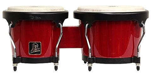 LP Aspire LPA601-RW Wood Bongos (Red/Black) (Lp Aspire Bongo Head)