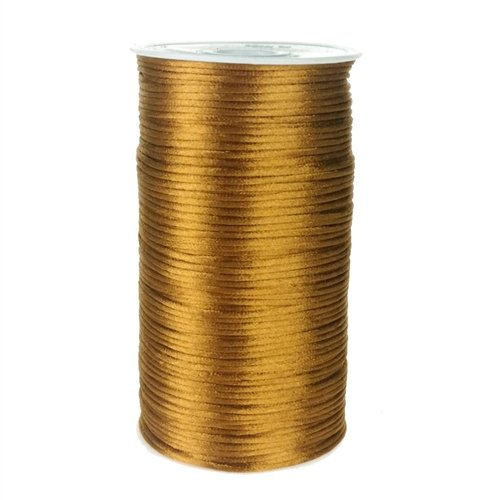 (Homeford Firefly Imports Satin Rattail Cord Chinese Knot, 2mm, 200 Yards, Antique Gold,)