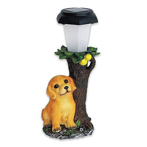 Comolife LED Automatic Solar Powerd Outdoor Lamp, Adorable Retriever , Animal Garden Light , Size : W4.87 x D4.09 x 10.92 Inch Review