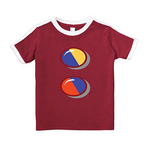Red Top Division T-shirt - Cute Rascals Division Sign Colorful Cotton Short Sleeve Crewneck Unisex Toddler T-Shirt Soccer Tee - Red, 3T