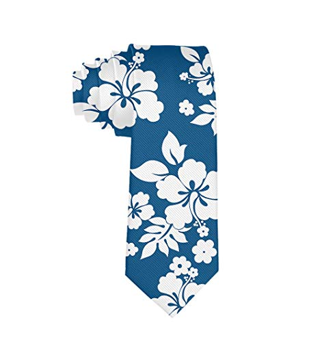 Hawaiian Necktie - Formal Durable Polyester Mens & Boys Aloha Hawaiian Floral Necktie Slim Necktie Gift For Suit Business Daily Prom