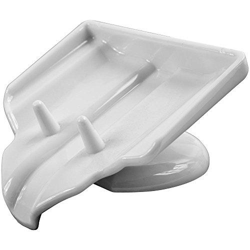 THANYA White Soap Dish Clean Dry Soap