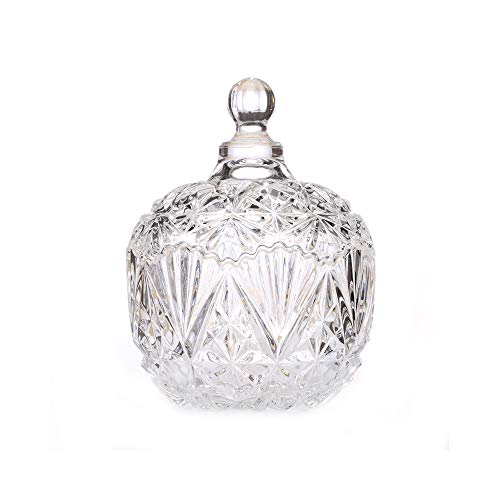 - Danmu 1Pc Glass Storage Jar with Lid Candy Dish Cookie Jar Jewelry Box Buffet Jar Biscuit Containers (750ml / 26oz)