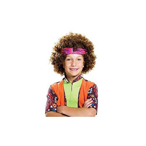 Fun World Big Boy's Hippie Fro Child Wig Childrens Costume, Brown, Standard -