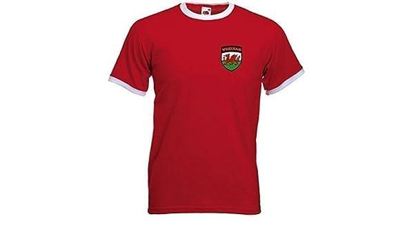 Wrexham FC Fútbol Club Estilo Retro Rojas Fútbol Soccer camiseta - L (Grande): Amazon.es: Deportes y aire libre