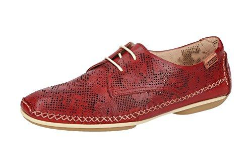 de Sandia Cordones Mujer Lisa 4683 Piel Zapatos W1R con Rojo Pikolinos w4xYEq7SR