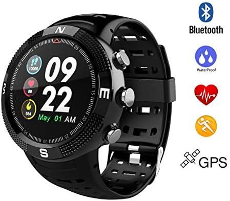 QTEC Reloj Inteligente Smartwatch Sports Band Bluetooth Impermeable Reloj Inteligente GPS Mensaje de Llamada Recordatorio Podómetro Sleep Monitor: ...