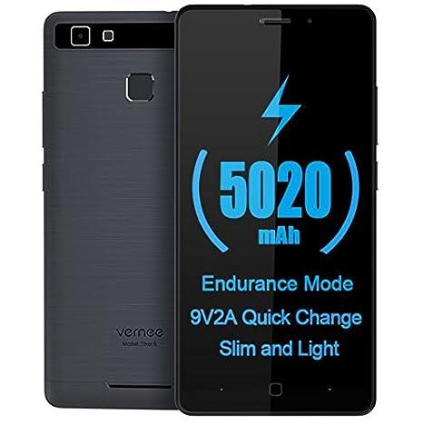 Vernee Thor E - Android 7.0 5020mAh Batería 4G Smartphone Cuerpo de metal completo, ...