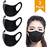 3 Pack Unisex Face Mouth Mask, Washable Reusable Anti Dust Face Mask for Cycling Camping Travel - Protection from Dust, Pollen, Pet Dander, Other Airborne Irritants