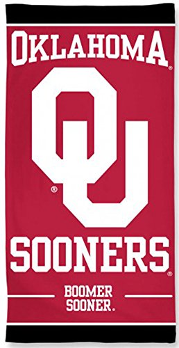 McArthur Oklahoma Boomer Sooners Beach Towel 30 x 60 Inches