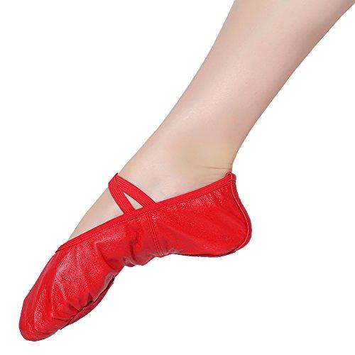 Damen Schläppchen Kinder Ballettschuhe Mädchen rot Ballet Ballettschläppchen X Trainings xw4AwqPv