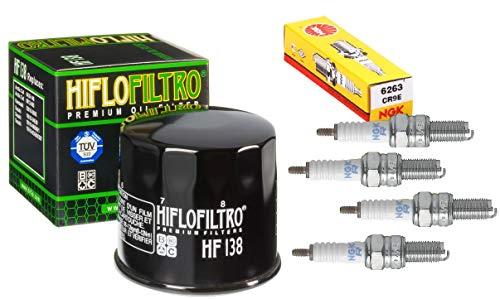 (Oil Filter Spark Plug Tune Up Kit For Suzuki GSX-R600 GSX-R750)