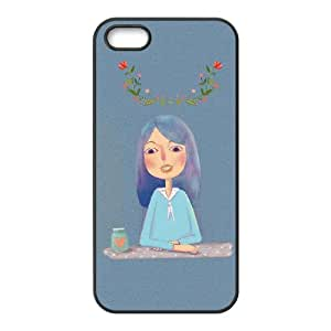 Good Phone Case With High Quality Illustration Girl Pattern On Back - iPhone 5,5S