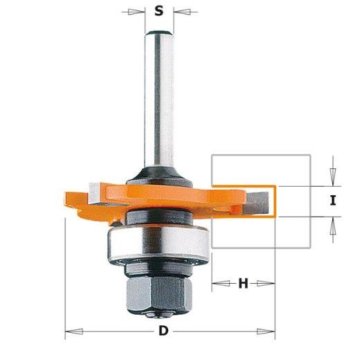 CMT Orange Tools 922.320.11A Fraise circulaire à rainurer Z3HM, S=8,D=47,6x2 S=8 D=47 6x2