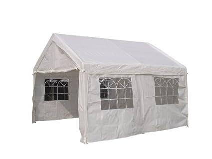 Pavillon Zelt Partyzelt Festzelt Palma 3x3m PVC weiß Stahlgestell mit Fenstern