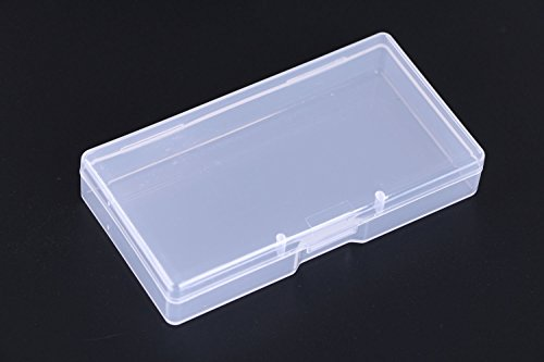 Mini Skater High Transparency Visible Plastic Box Clear Storage Case with Lid Use for Organizing Small Parts,Cotton Swab,Ornaments,pens and more. (4 (Small Cotton Box)