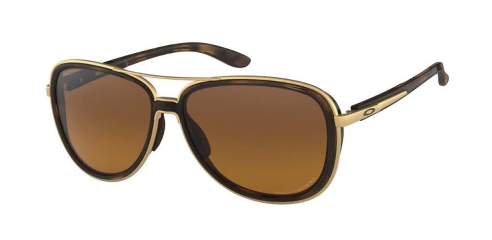 Oakley Split Time OO4129 412906 58M Brown Tortoise/Brown Gradient Polarized Sunglasses For Men For Women+BUNDLE with Oakley Accessory Leash Kit by Oakley
