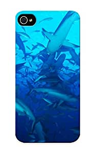 Iphone 5/5s Ocean Sharks Underwater Bahamas Print High Quality Tpu Gel Frame Case Cover For New Year's Day