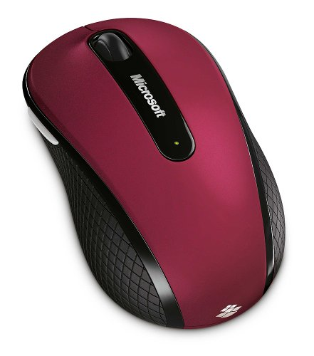 Microsoft D5D-00038 Wireless Mobile Mouse 4000 Special Edition - Ruby Pink - Microsoft Pink Wireless Mouse