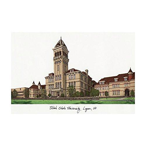 Campus Images Utah State University Campus Images Lithograph Print