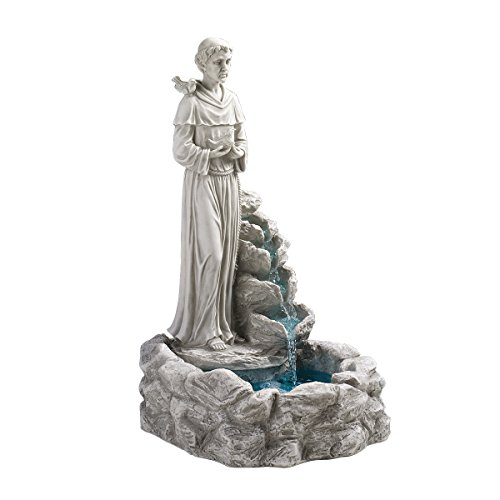Design Toscano Resin Nature's Blessed Prayer St. Francis Fountain
