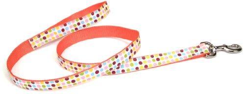 Pet Attire Ribbon Leash, 6-Foot, Dots, My Pet Supplies
